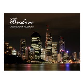 Cartão Postal Brisbane em a noite