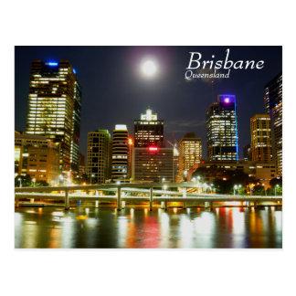 Cartão Postal Brisbane na noite