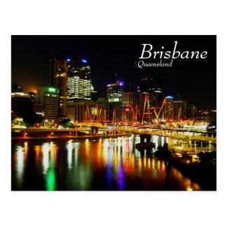 Cartão Postal Brisbane na noite 1