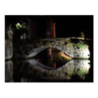 Cartão Postal Bruges na noite