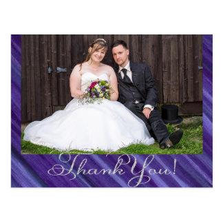 Cartão Postal Brushstrokes roxos do Lilac da ameixa da lavanda