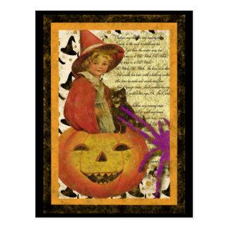 Cartão Postal bruxa-criança