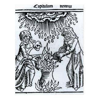 Cartão Postal Bruxas que fazem um período, 1489