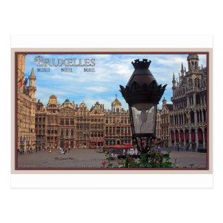 Cartão Postal Bruxelas - o lugar grande