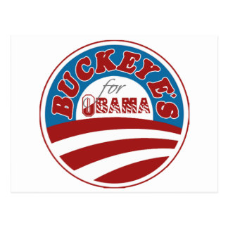 Cartão Postal Buckeyes para Obama