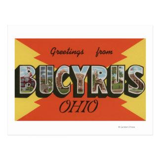 Cartão Postal Bucyrus, letra ScenesBucyrus de OhioLarge, OH