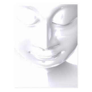 Cartão Postal Buda whites faces