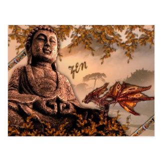 Cartão Postal Buda Zenement