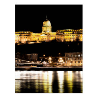 Cartão Postal Budapest na arte da noite