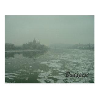 Cartão Postal Budapest no inverno