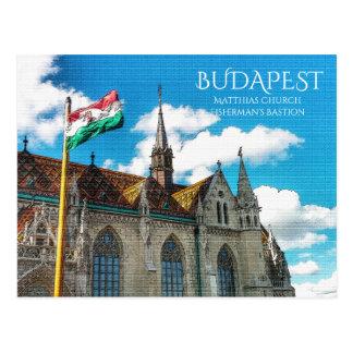 Cartão Postal Budapest, o bastião do pescador
