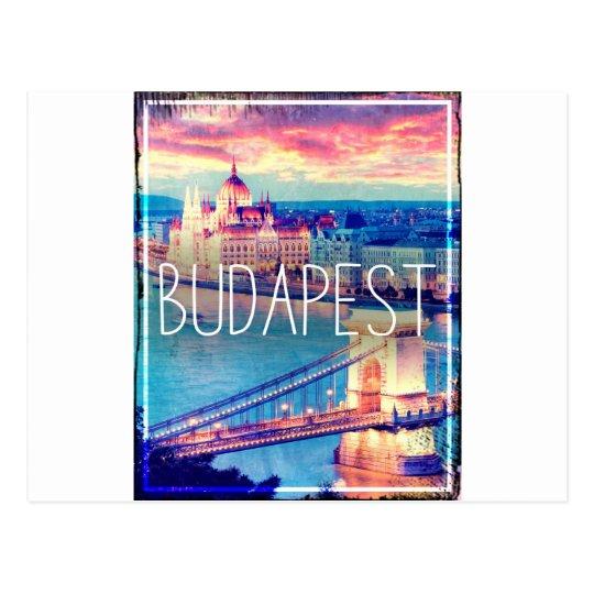 Cartão Postal Budapest, vintage poster