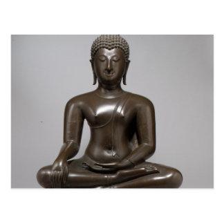 Cartão Postal Buddha assentado - século XV