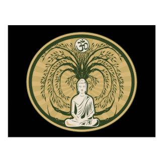 Cartão Postal Buddha sob a árvore de Bodhi
