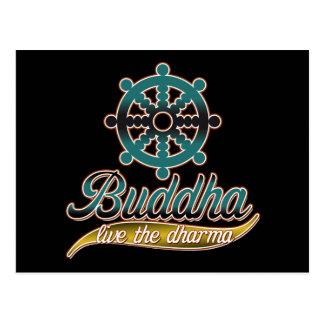 Cartão Postal Buddha vive o Dharma