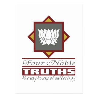 Cartão Postal Budismo quatro verdades nobres