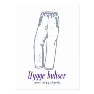 Cartão Postal Bukser de Hygge: Comemore calças confortáveis