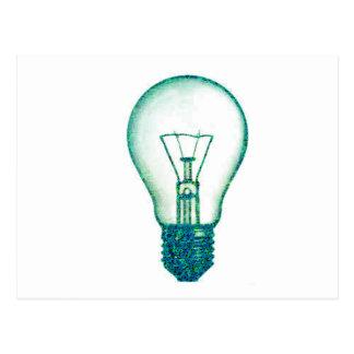 Cartão Postal bulbo de lâmpada do pixel