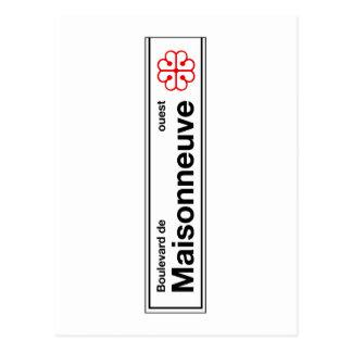 Cartão Postal Bulevar de Maisonneuve, sinal de rua de Montreal