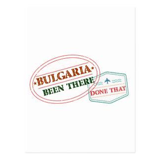 Cartão Postal Bulgária feito lá isso