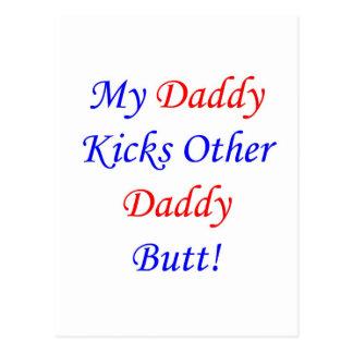 Cartão Postal Bumbum do pai do pontapé o outro!