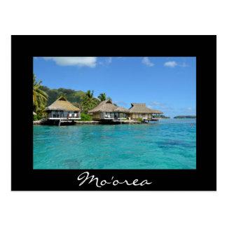 Cartão Postal Bungalows das férias do overwater de Moorea