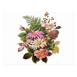 Cartão Postal buquê da flor
