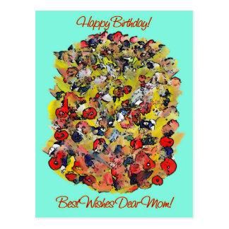 Cartão Postal Buquê da mamã do feliz aniversario de flores