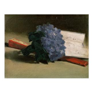 Cartão Postal Buquê das violetas, 1872 de Manet |