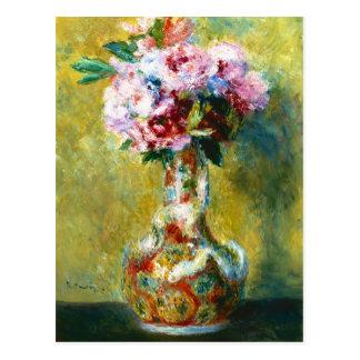 Cartão Postal Buquê em uma pintura de Pierre Auguste Renoir do