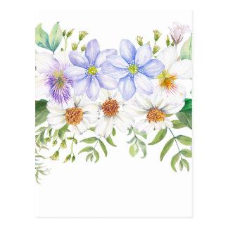Cartão Postal Buquê floral do campo