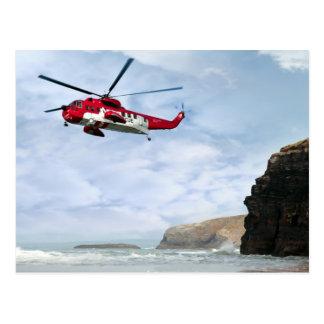 Cartão Postal busca aero-marítima da costa do salvamento