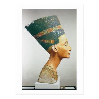 Cartão Postal Busto da rainha Nefertiti, vista lateral, do studi