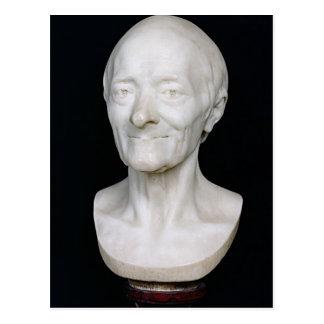 Cartão Postal Busto de Voltaire sem sua peruca, 1778