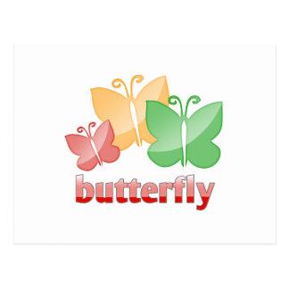 Cartão Postal Butterfies bonitos