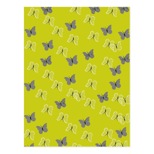 Cartão Postal butterfly yellow