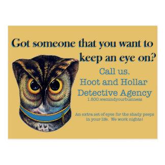 Cartão Postal Buzina e agência de detetive de Hollar