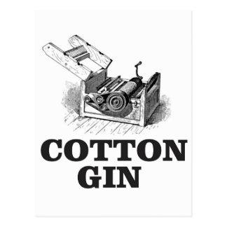 Cartão Postal bW da gim de algodão