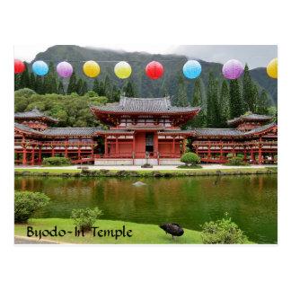 Cartão Postal Byodo-No templo budista Havaí