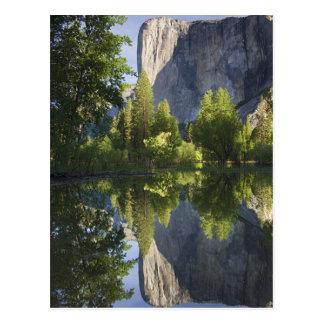 Cartão Postal CA, Yosemite NP, EL Capitan refletiu em Merced