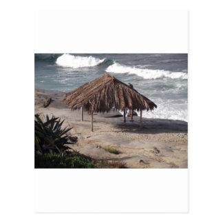 Cartão Postal Cabana na praia