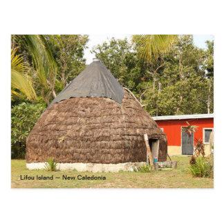 Cartão Postal Cabana tradicional, ilha de Lifou, Nova Caledônia