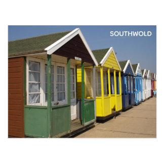 Cartão Postal Cabanas brilhantes da praia