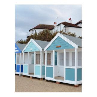 Cartão Postal Cabanas da praia em Southwold