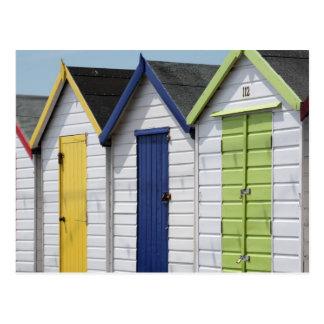 Cartão Postal Cabanas inglesas da praia do beira-mar