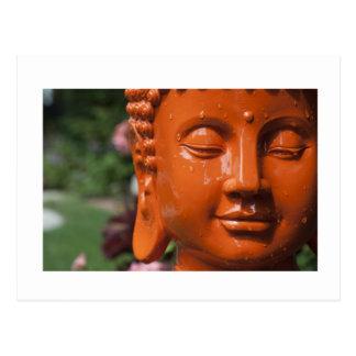 Cartão Postal Cabeça alaranjada de Buddha