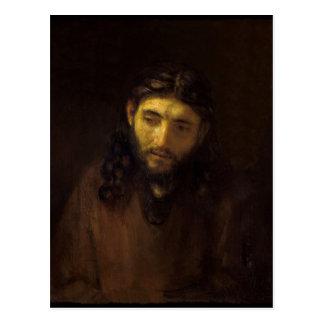 Cartão Postal Cabeça--Cristo-Rembrandt harmensz camionete rijn