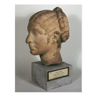 Cartão Postal Cabeça da pedra calcária de uma mulher