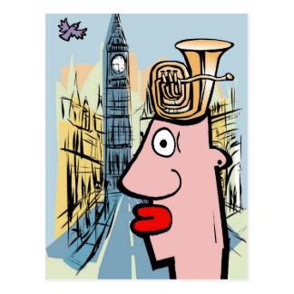 Cartão Postal Cabeça da tuba em Londres