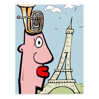Cartão Postal Cabeça da tuba em Paris